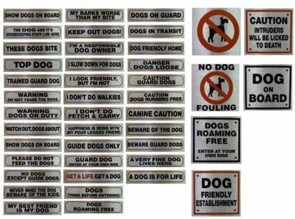 Self Adhesive Weatherproof Information Sign Durable Quality Pet Dog Warning Sign GBP 1.99