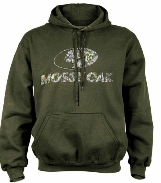 New Mens 2XL XL LG Mossy Oak Military Green Hoodie Camo Hooded Sweatshirt Fleece