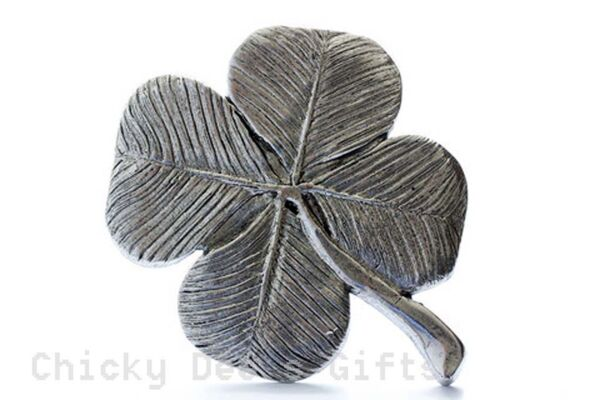 Grillie Shamrock 4 Leaf Clover Grill Ornament for Car Truck Irish Father#x27;s Day