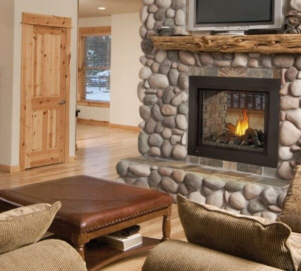 Napoleon BHD4 Ascent High Definition See Thru Gas Fireplace w Phazer Log Set