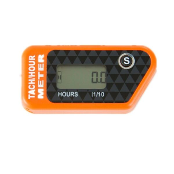 Re settable Inductive Tach Hour Meter Motorcycle Tachometer Digital ATV Chainsaw