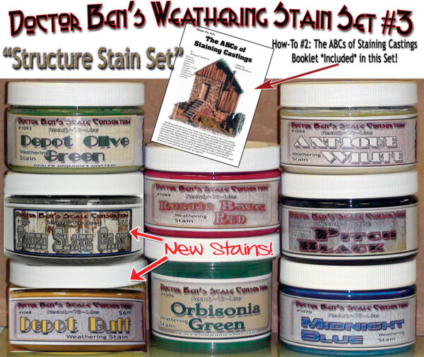 Doctor Ben's Weathering Stain Set #3 & How-To Booklet