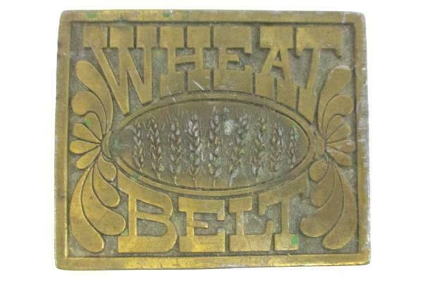 Vintage Belt Buckle Reiman Publications Wheat Belt Patina