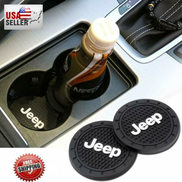 Universal Jeep Interior Accessories Car Logo Round Can Cup Holder Insert Coaster