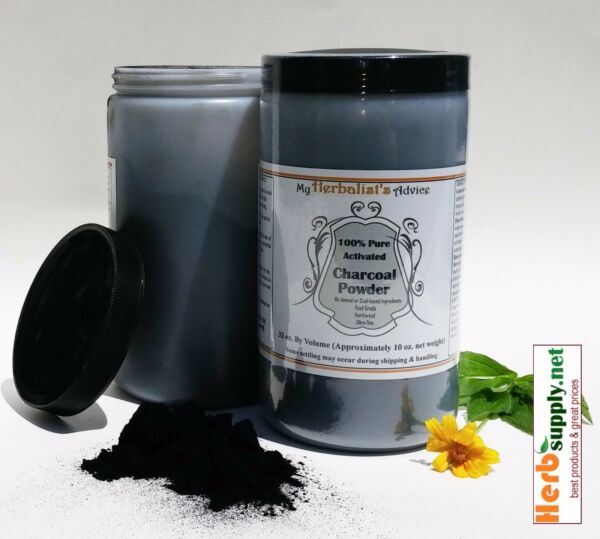 100% Pure Activated Charcoal Powder 10 oz Hardwood Food Grade Extra Fine