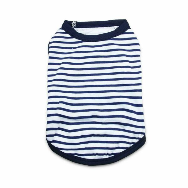 Boy Dog Clothes Male Blue T Shirt Dog Clothing XS S M L for Chihuahua Yorkie $4.45