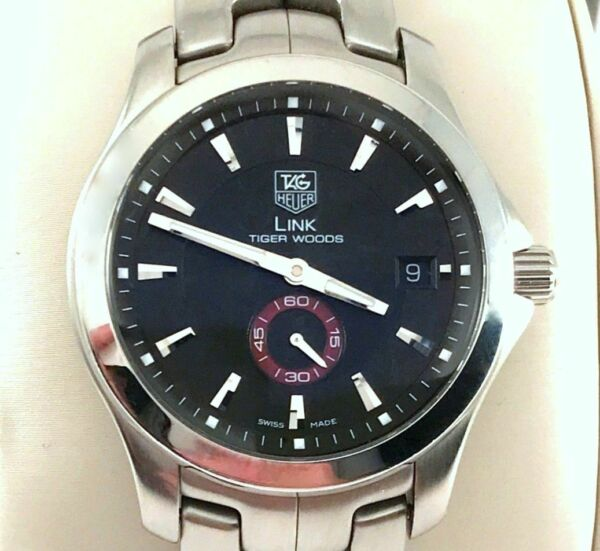 Tag Heuer Tiger Woods Link Watch Limited Edition WJF2110 #1223 of 8000 Produced