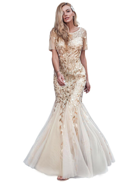 Ever-pretty US Plus Size Long Mermaid Evening Dress Sequins Celebrity Prom Gown $40.04