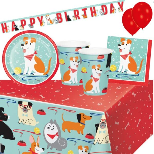 Dog Puppy Party Tableware Decorations amp; Balloons GBP 6.99