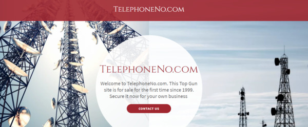Top level generic telephone mobile VPN free calling domain name available for JV