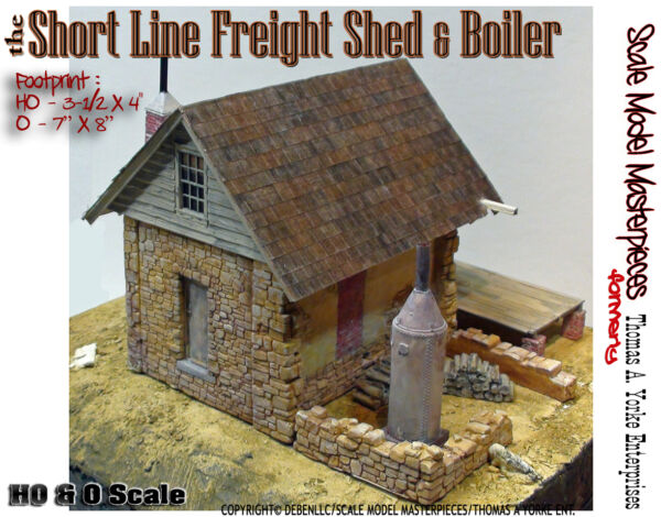 Scale Model MasterpiecesYorke Short Line Freight Shed & Boiler Kit O1;48
