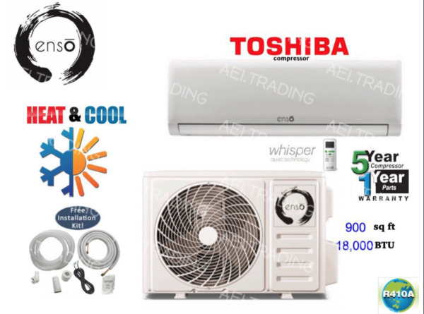 18000 BTU Ductless AC Mini Split Heat Pump Air Conditioner Inverter with WiFi $730.00