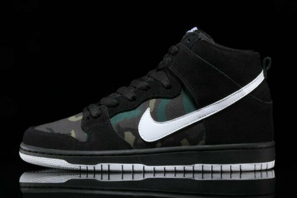 NIKE SB - Dunk High Pro (Black / White / Iguana) lot BQ6826-001 msrp100