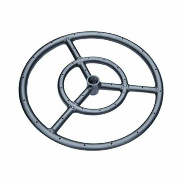Onlyfire 18 Inches Black Steel Round Fire Pit Burner Ring Double Ring