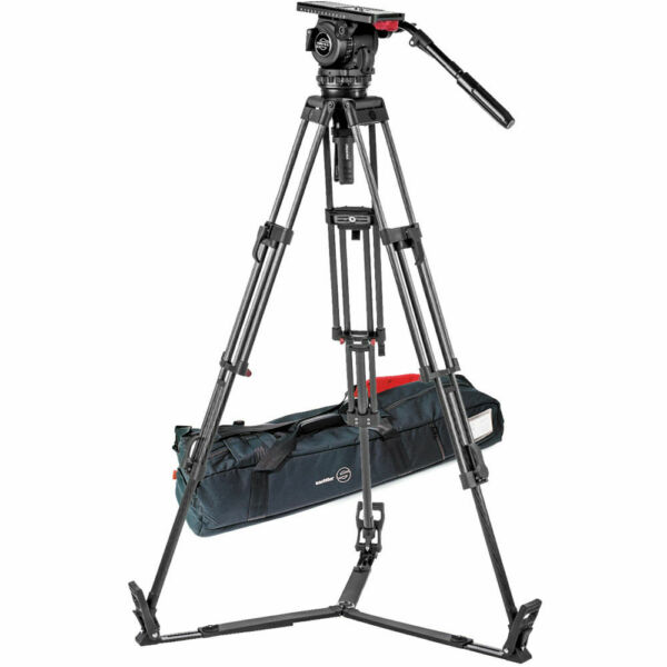 Sachtler Video 18 S2 Fluid Head ENG 2 CF Tripod System Ground Spreader 1862S2