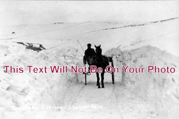 DU 388 Snow Cutting Langdon Beck County Durham 6x4 Photo