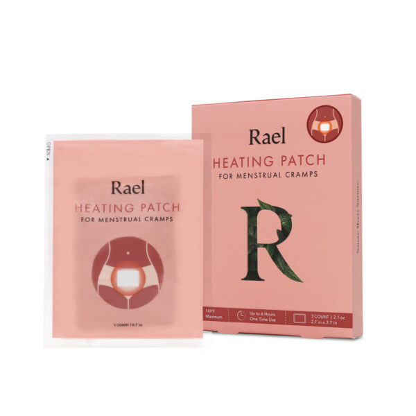 Rael Pain Relief Heating Patch PMS Relief Natural Heating Patches 3 Count $5.99