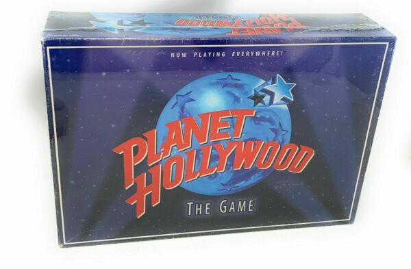 Vintage 1997 Planet Hollywood The Game Trivia Game Milton Bradley Movie Actors