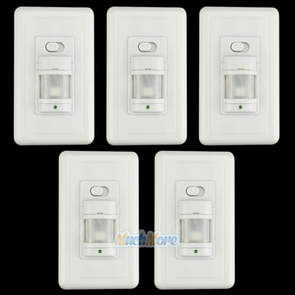 5 Pack Automatic PIR Occupancy Motion Sensor Light Switch Auto OnOff Infrared $13.59
