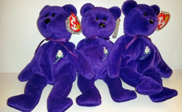 Princess Diana Beanie Baby Ind PE & PVC No Gap & Ind PE With Gap (Ghost Version)