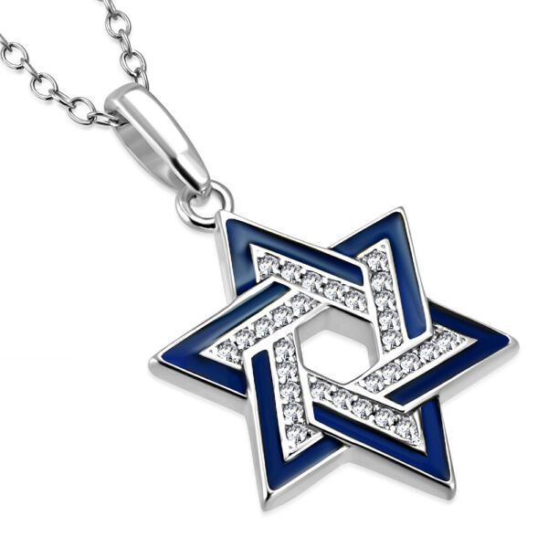 925 Sterling Silver Star of David Necklace Pendant