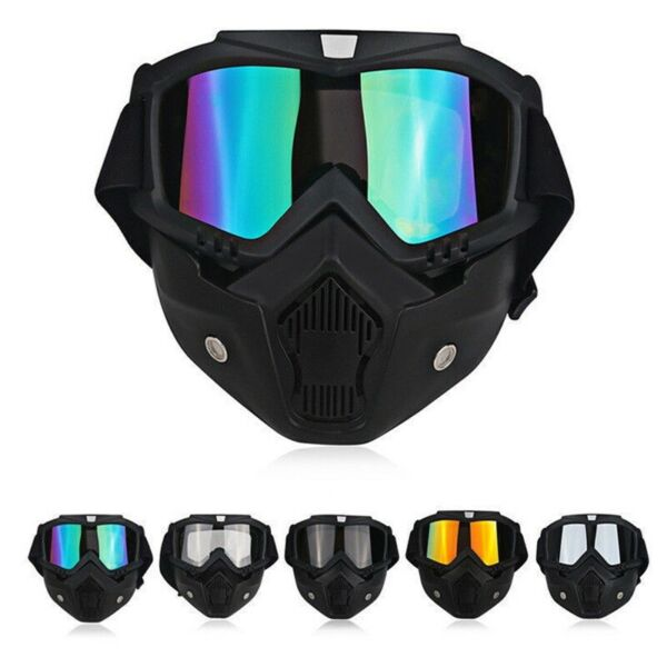 Safety Face Shield Mask Goggles Kits Anti Dust Mouth Filter Work Eye Protection