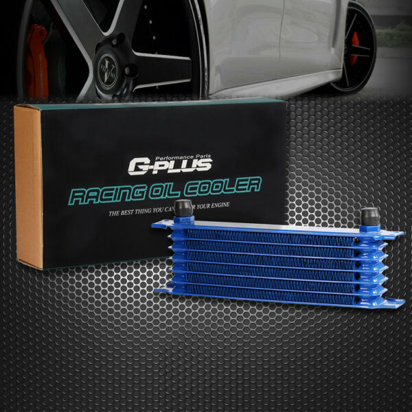 Universal 7 Row 10AN Universal Engine Transmission Oil Cooler For Japanese Cars