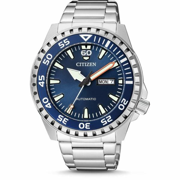 CITIZEN NH8389-88L Automatic Analog Day-Date Blue Dial Stainless Steel Watch