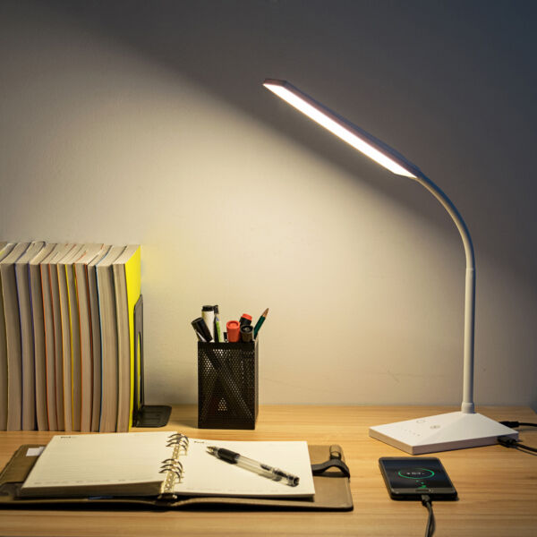 72 LED Touch Sensor Desk Lamp 5 Modes Table Light Eye-Caring Reading USB Port