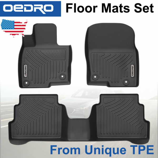 All-Weather Floor Mats Liners fit for Mazda CX-5 2017-2019 Black Unique TPE