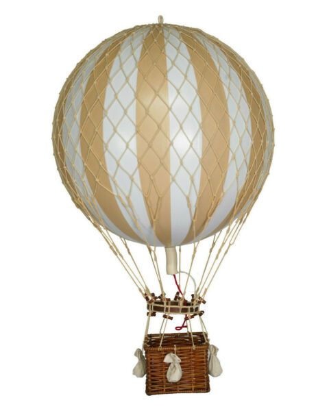 XL Hot Air Balloon Ivory White Striped 17