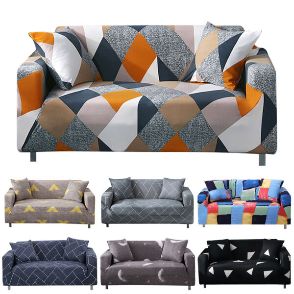 1 2 3 4 Seater Slipcover Chair Sofa Cover Soft Stretch Elastic Couch Protector $25.99