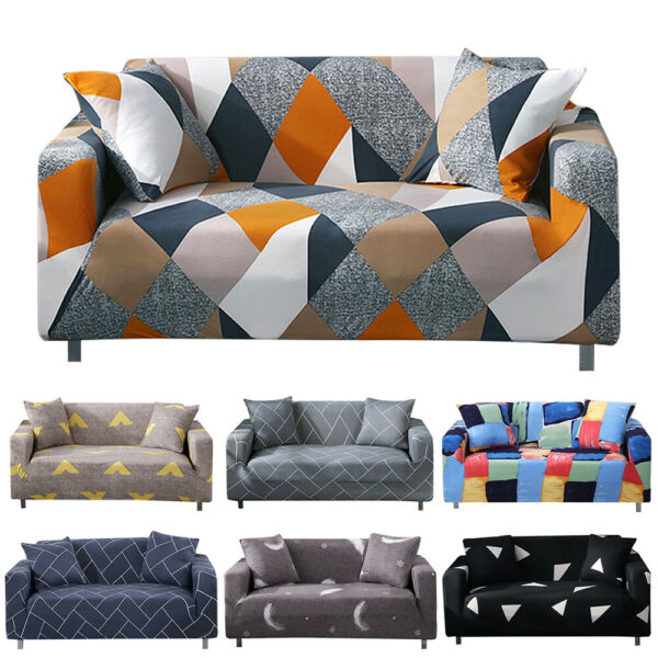 1 2 3 4 Seater Slipcover Chair Sofa Cover Soft Stretch Elastic Couch Protector  $16.13