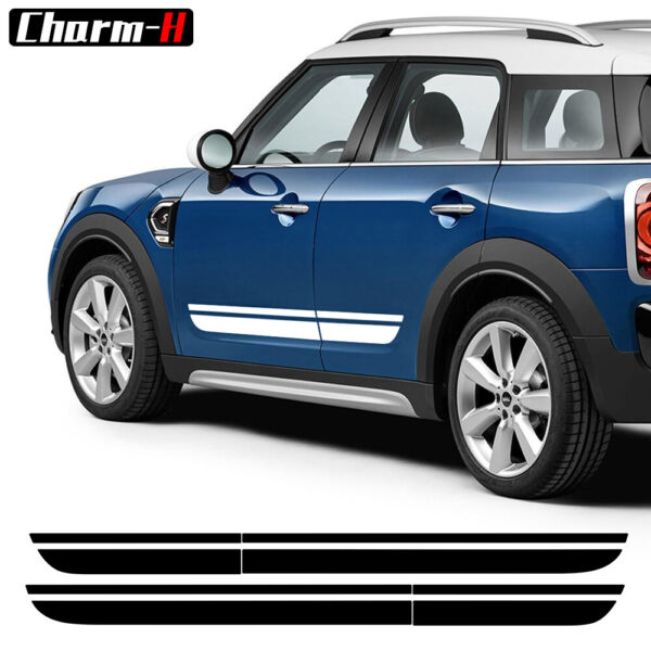 2pcs Car Door Side Stripe Graphics Sticker Decal fit for Mini Countryman F60 $24.83