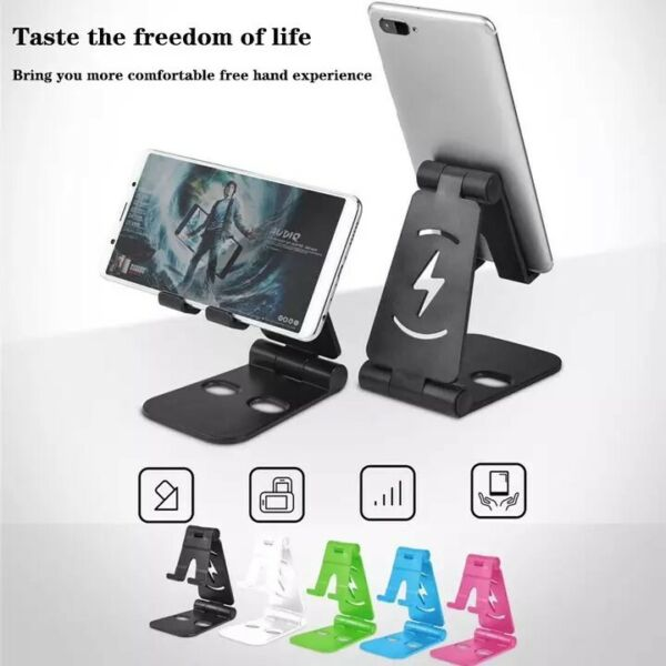 Universal Foldable Desktop Desk Stand Holder Mount For Cell Phone and Tablet Pad