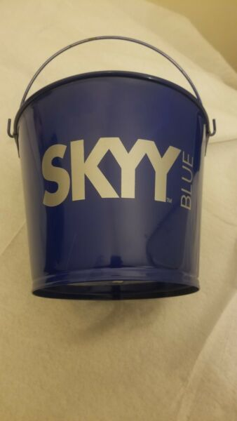 Skyy Blue Vodka Bucket Pail Beer new a scratch rare gift brew  game bud