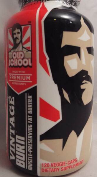 Old School Vintage Burn Thermogenic Fat Burning Supplement - 120 Capsules    New