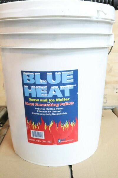 40LB PAIL - Blue Heat BHP40 Snow Ice Melter with Generating Pellets
