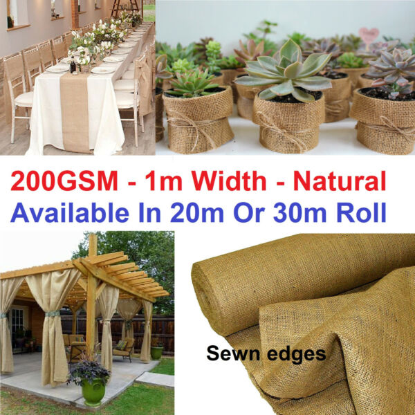 Quality Natural Hessian Burlap Roll Rustic Decor Landscaping Agriculture Farming