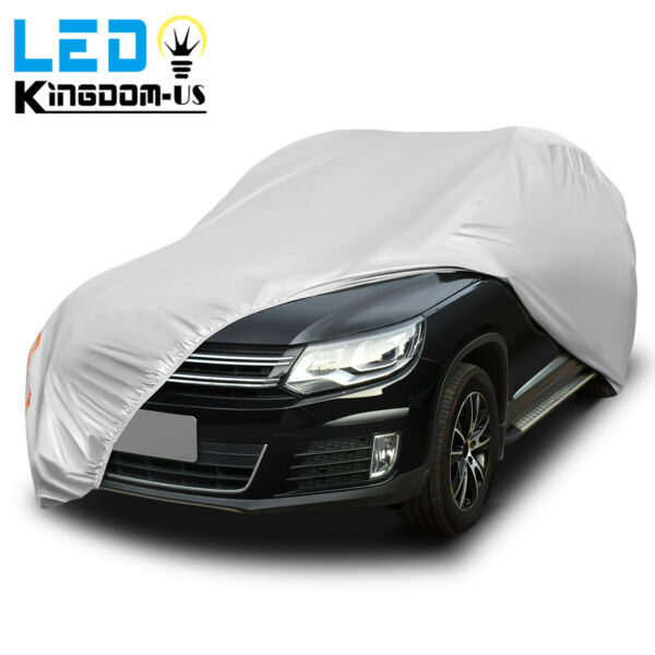 Full Car Cover Waterproof UV Rain Snow Dust Heat Scratch Resistant Protection US