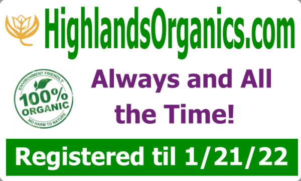 HighlandsOrganics.com - PREMIUM  DOMAIN for the all natural