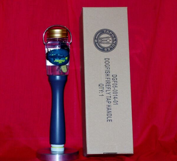 NEW IN THE BOX VERY RARE DOGFISH HEAD FIREFLY TAP HANDLE wSTAND