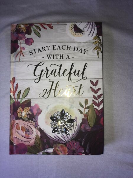 "Pooch & Sweatheart ""Start Each Day With A Grateful Heart Journal Gold $20.99"