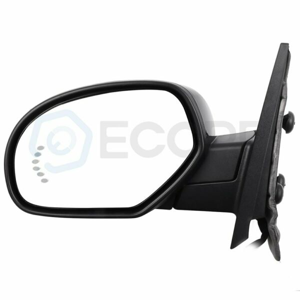Driver LH for 07-13 GMC Chevy Power Memory Heated Arrow Puddle Lights Mirrors