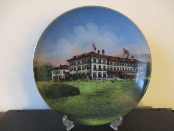 Circa 1910 Souvenir Plate Fort William Henry Hotel Lake George New York