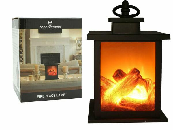 Fireplace Lamp Led Flame Effect Log Fire Place Ornaments Home & Outdoor Decor