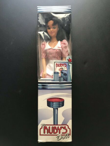 VINTAGE 1998 THE RUBY'S DINER DOLL NEW IN UNOPENED BOX