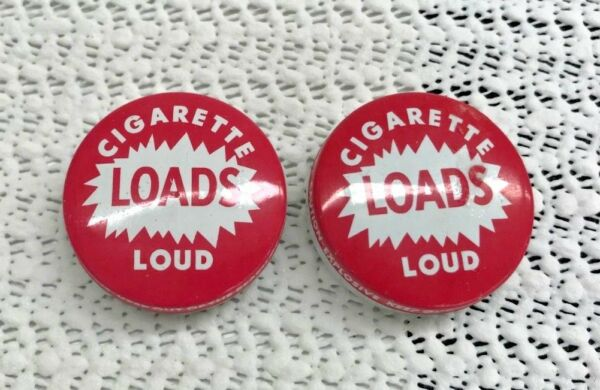 Pair of  Vintage CIGARETTE LOADS LOUD Tins w loads