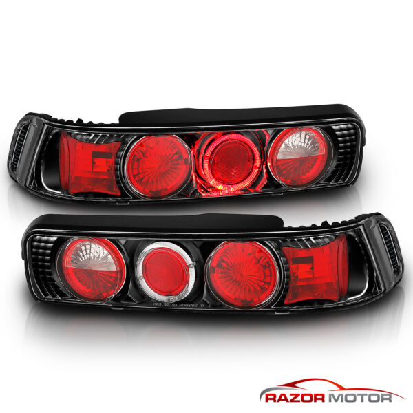 1990 1991 1992 1993 Acura Integra 2Dr JDM Halo Rear Brake Tail Lights Pair