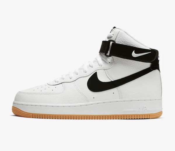 Nike Air Force 1 One High 07 LV8 White Black Gum Brown Medium AT7653-100 Size